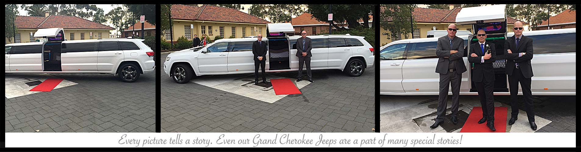 white grand cherokee jeep limousine perth bellagio limousines. Black Bedroom Furniture Sets. Home Design Ideas