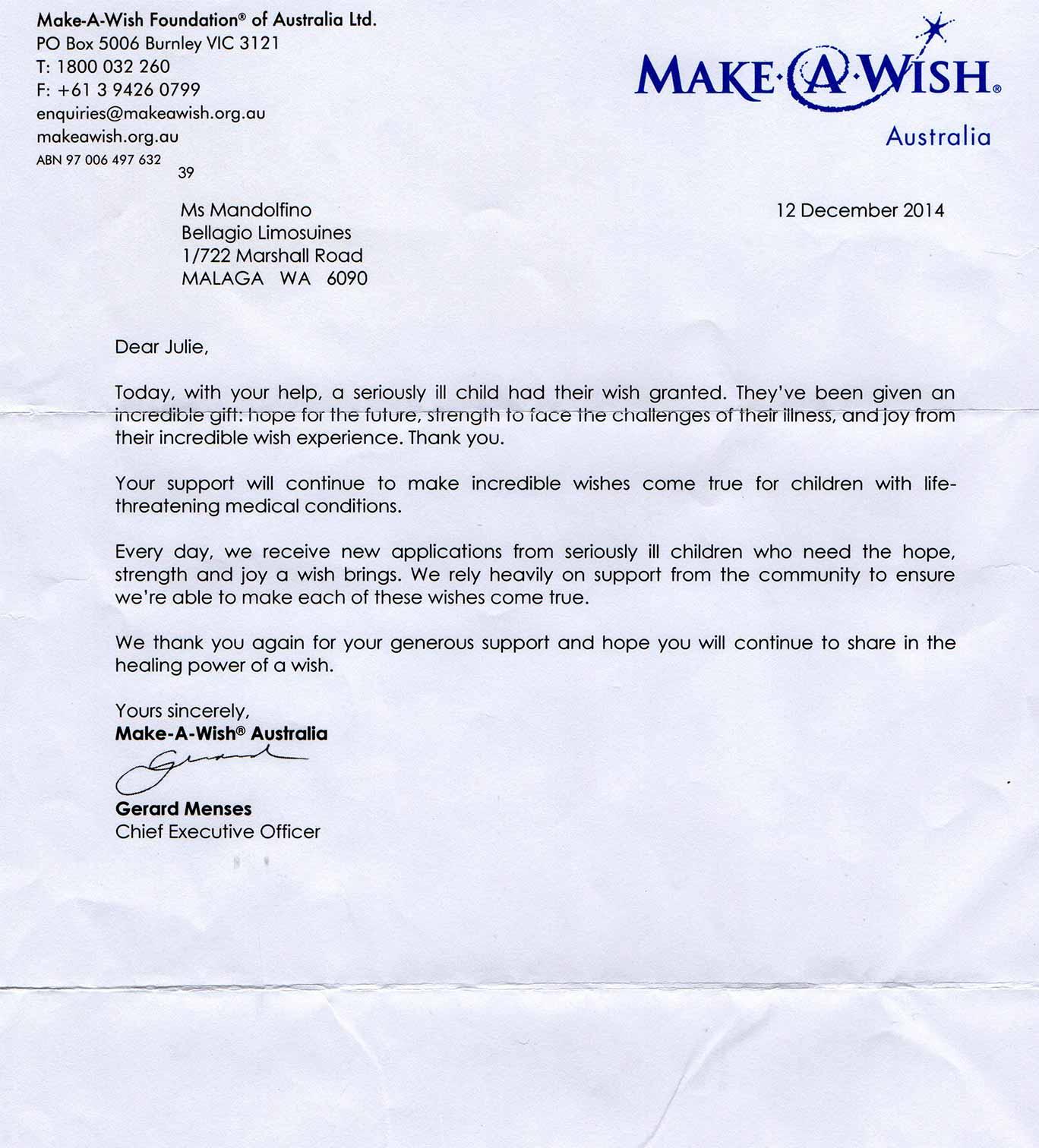 Bellagio-Limousines-Perth-Grants-Make-a-Wish-Foundation