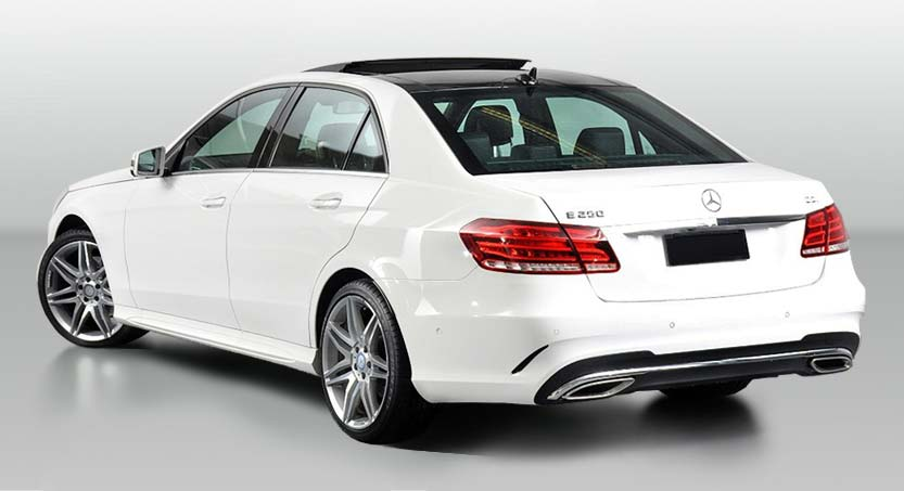The Perfect Bridal Car for the Bride and her Father on her Wedding Day! Bellagio Limousines Perth New E-Class Mercedes Benz Saloon