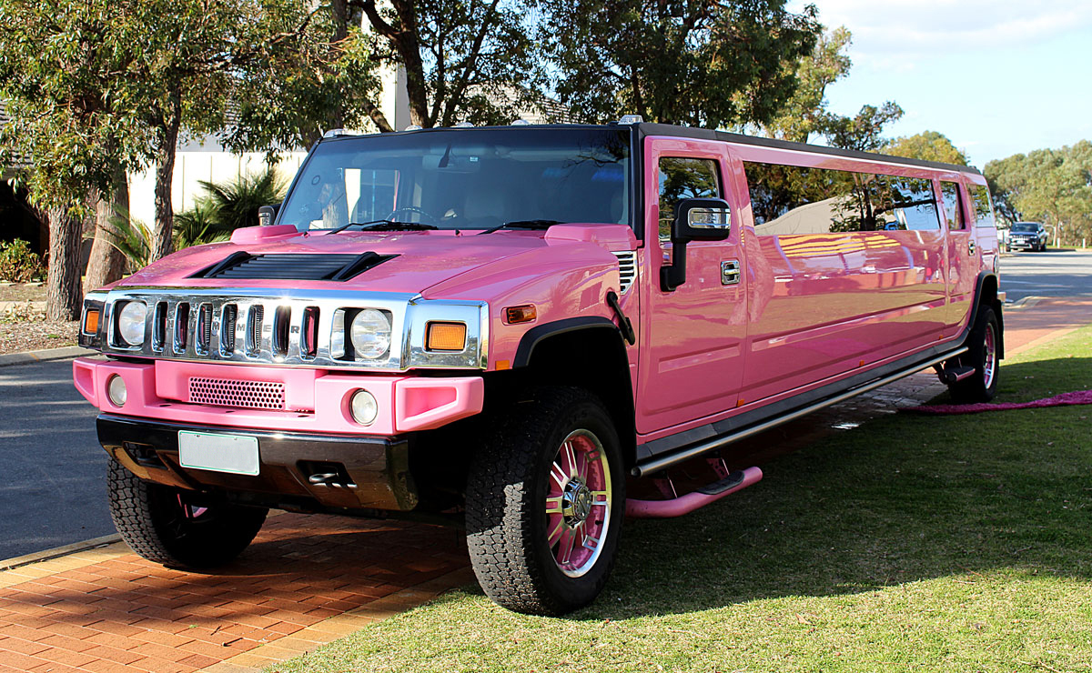 Pink Hummers from Bellagio Limousines | Bellagio Limousines | pink hummer hire perth