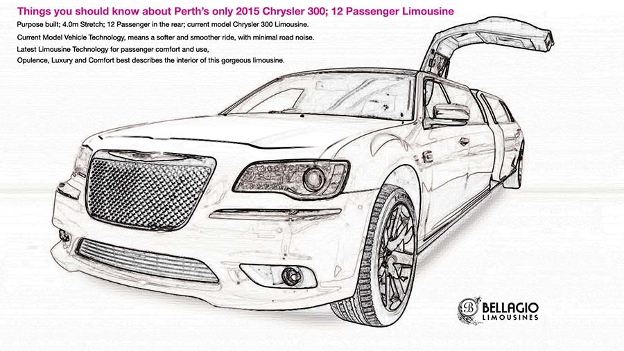 12-seater-limousines-perth-hire-2015-Chrysler-300-Sketch