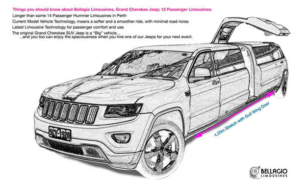 12-seater-limo-hire-perth-2015-Grand-Cherokee-Jeep-Limousine-Sketch-600