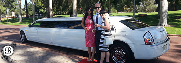 Limo Hire Perth - Bellagio Limousines Perth - White Chrysler Limo Hire