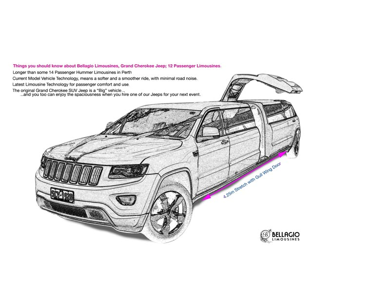 limo-hire-perth-grand-cherokee-12-passenger-limo-sketch